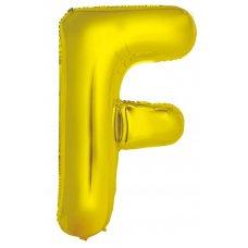 34inch Decrotex Foil Balloon Alphabet Gold #F Shaped P1