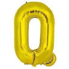 34inch Decrotex Foil Balloon Alphabet Gold #Q Shaped P1
