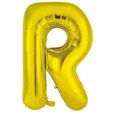 34inch Decrotex Foil Balloon Alphabet Gold #R Shaped P1