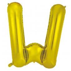 34inch Decrotex Foil Balloon Alphabet Gold #W Shaped P1