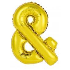 34inch Decrotex Foil Balloon Alphabet Gold & Shaped P1