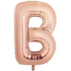 34inch Decrotex Foil Balloon Alphabet Rose Gold #B Shaped P1