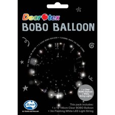 BOBO Clear Balloon 18in+3m White LED Light String P1