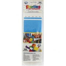 Bright Blue Tyvek Wristband P100
