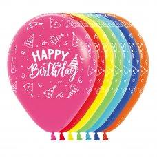 Happy Birthday Hats Asstd Sempertex Balloons 30cm Bag50