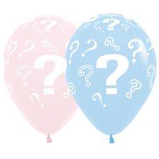 Question Marks ? Pastel Matte Sempertex Balloons 30cm Bag50