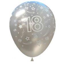 18 Pearl Silver (481) Sempertex Balloons 30cm Bag50