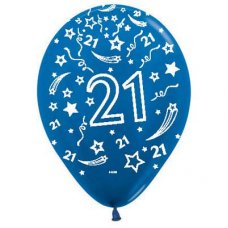 21 Metallic Blue (540) Sempertex Balloons 30cm Bag50