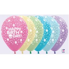 Happy Bday Cupcakes Satin 412 420 430 438 440 450 30cm Bag50