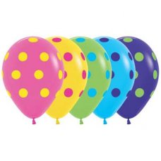 Polka Dot Coloured Asstd (Std 012 020 031 040 051) 30cm Bag50