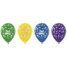 Get Well Dots Asstd (320 330 340 351 390) 30cm Bag50