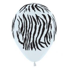 Zebra Std White (005) Black Print 30cm Bag50