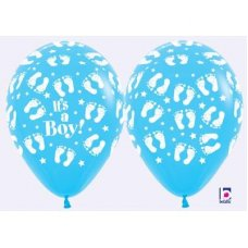 Its a Boy Footprints (Pastel)  (140) 30cm Bag50