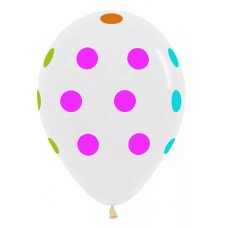 Neon Polka Dots Multi (Crystal Clear) (090) Bag 50