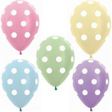 Polka Dots Prl Asstd (409 420 431 440 450) 30cm Bag50