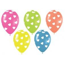 Classic Hearts Neon 212 220 230 240 261 Sempertex 30cm Bag50