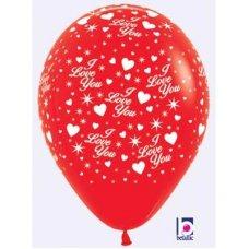 Sparkling Love (Std Red) (015) Sempertex 30cm Bag50