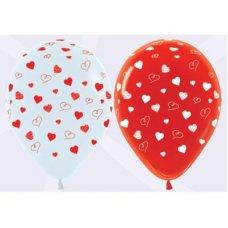 Hearts (Standard) (005 015) Sempertex 30cm Bag50