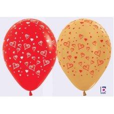 Love Letter Met Asstd (515 570) Sempertex 30cm Bag50