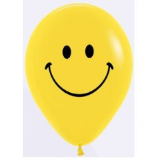 Smiley Face Standard Black Print (020) Sempertex 30cm Bag50