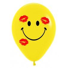 Smiley Kisses 2 Side Std (020) Sempertex 30cm Bag50