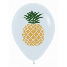 Pineapple 2 Sided Print Fash White 005 Sempertex 30cm Bag50