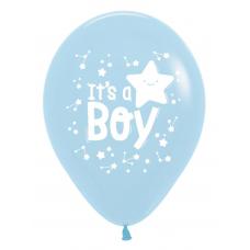 It's A Boy PastelMatte Blue 640 Sempertex 2 sided 30cm Bag50