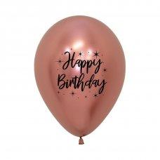 Happy Birthday Radiant Reflex Rose Gold Sempertex 30cm Bag50