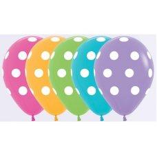 Polka White Dots Fas 012 031 038 050 12cm Semp. Bag 100