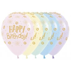 Happy Birthday Sunshine Pastel Matte Sempertex30cm Bag 50