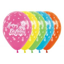 Happy Birthday Tropical Fash Astd Sempertex 30cm Bag 50