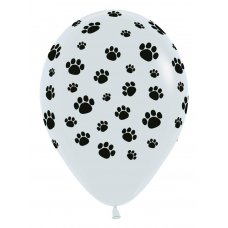 Paw Prints Fash White 005 Sempertex 30cm Bag 50
