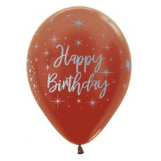 Happy Birthday Radiant Met Copper 573 Sempertex Bag 50