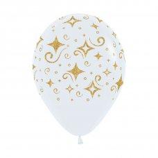 Golden Diamonds Glitter Print Fashion White (005) Bag 50