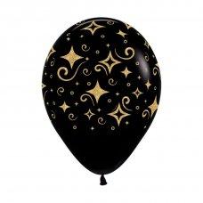 Golden Diamonds Glitter Print Fashion Black (080) Bag 50