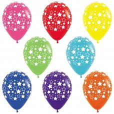 Bold Stars Assorted Fashion Sempertex Balloons Bag 50