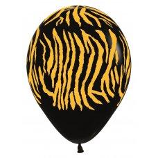 Zebra Fashion Black (080) Gold Print Sempertex Bag 50
