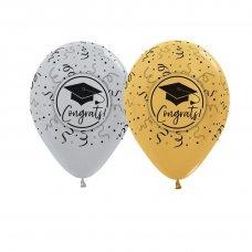 Congrats Grad Silver & Gold (481, 570) Sempertex Bag 50