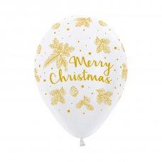 Gold Christmas Fashion White (005) Sempertex Bag 50