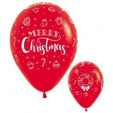 Merry Christmas Wreath Fashion Red (015) Sempertex Bag 50