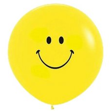 Smiley Face 90cm 2 Side Std 020 Sempertex P1