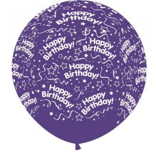 All Around Birthday 90cm Cry Violet 351 Sempertex P1