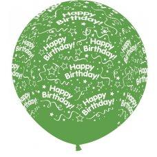 All Around Birthday 90cm Cry Green 330 Sempertex P1