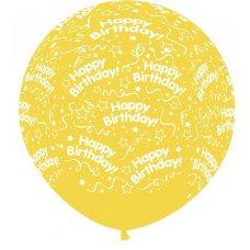 All Around Birthday 90cm Cry Yellow 320 Sempertex P1