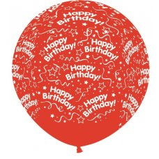 All Around Birthday 90cm Cry Red 315 Sempertex P1