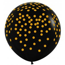 Gold Confetti 90cm Standard Black (080) Sempertex P3