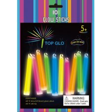 Glow Light Stick on String 6in 15cm Assorted P10