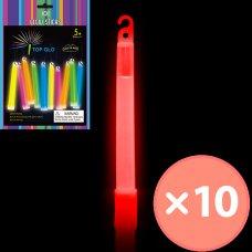 Glow Light Stick on String 6in 15cm Red P10