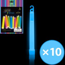 Glow Light Stick on String 6in 15cm Blue P10