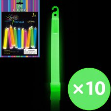 Glow Light Stick on String 6in 15cm Green P10
